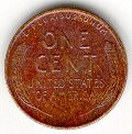 !955 Lincoln wheat cent, back view.